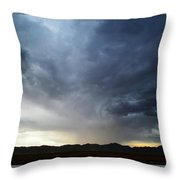 Shower North Of The Mountains Throw Pillow