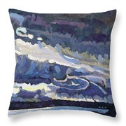 Showers Behind The Cold Front Throw Pillow