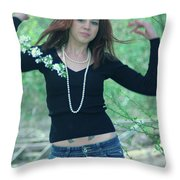 Showing The Muscles  Throw Pillow
