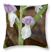 Showy Orchis Throw Pillow