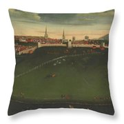 Shrewsbury And River Severn Throw Pillow