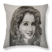 Shreya Ghoshal Throw Pillow