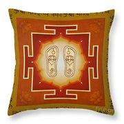 Shri Maha Lakshmi Paduka Throw Pillow