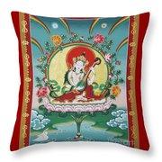 Shri Saraswati - Goddess Of Wisdom And Arts Throw Pillow