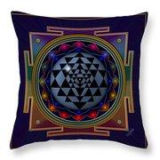 Shri Yantra Throw Pillow