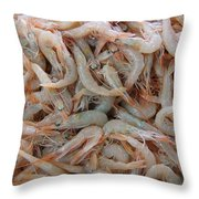 Shrimp Mess Throw Pillow