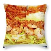 Shrimp Po-boy Throw Pillow