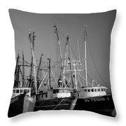 Shrimper Fleet Throw Pillow