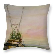 Shrimping Throw Pillow