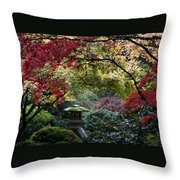 Shrine In Watercolors Throw Pillow
