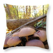Shroomers  Throw Pillow