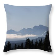 Shrouded Valley Throw Pillow