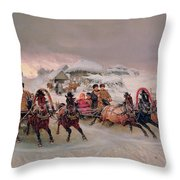 Shrovetide Throw Pillow