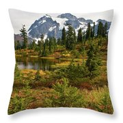 Shuksan Autumn Throw Pillow