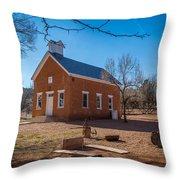 Shumway School House Throw Pillow