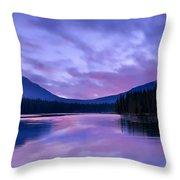 Shunda Lake At Dawn Throw Pillow