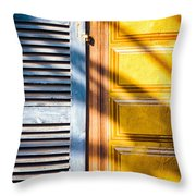 Shutter And Ornate Wall Throw Pillow
