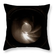 Shutter In Sepia Throw Pillow
