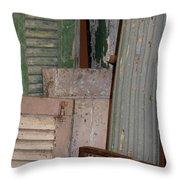 Shutters And Column  Throw Pillow