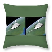 Shuttle X-2010 - Gently Cross Your Eyes And Focus On The Middle Image Throw Pillow
