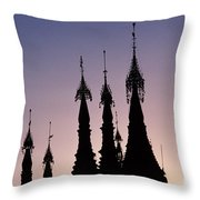 Shwedagon Pagodas Throw Pillow