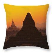 Shwesandaw Paya Temples Throw Pillow