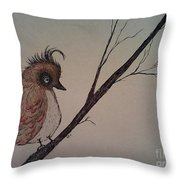 Shy Bird Throw Pillow by Ginny Youngblood