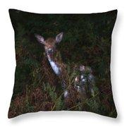 Shy Fallow Deer 4 Throw Pillow