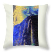 Shy Girl Throw Pillow