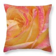 Shy Yellow Rose Throw Pillow