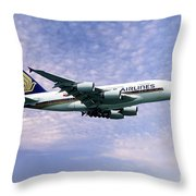 Sia A380 9v-ska Throw Pillow