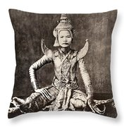Siam: Dancer, C1870 Throw Pillow