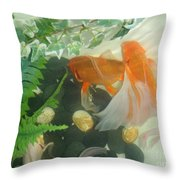 Siamese Fighting Fish 2 Throw Pillow