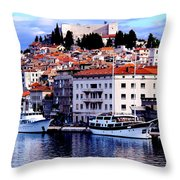 Sibenik Waterfront Throw Pillow