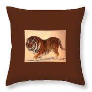 Siberian Snow Tiger Throw Pillow