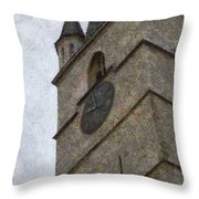 Sibiu Clock Tower Throw Pillow