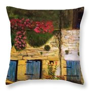 Sicilian Man Peers From A Window Throw Pillow