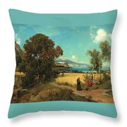 Sicilian Scene Throw Pillow