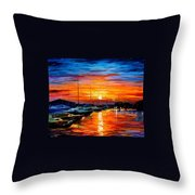 Sicily - Harbor Of Syracuse Throw Pillow