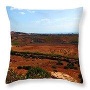 Sicily Landscape Throw Pillow