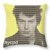 Sid Vicious Mug Shot - Yellow Throw Pillow