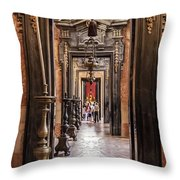 Side Aisle Of The Basilica Of The Mafra Throw Pillow