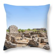 Side Ancient Shop Ruins Throw Pillow