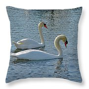 Side By Side For Life  Throw Pillow