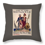Side By Side. Throw Pillow