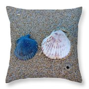 Side By Side Shells Throw Pillow