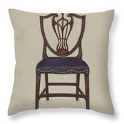 Side Chair (one Of Six) Throw Pillow