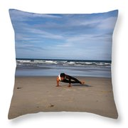 Side Crow Throw Pillow