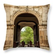 Side Entrance Of Copala Church Throw Pillow