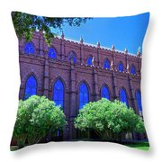 Side Of A Large Church Throw Pillow